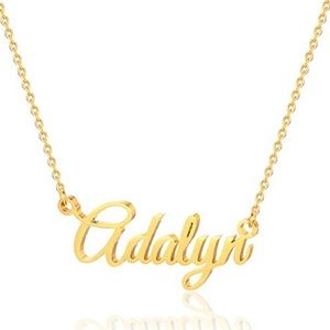 Gold Adalyn Name Necklace